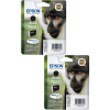 Original Epson T0891 Black Twin Pack Ink Cartridges (C13T08914011)