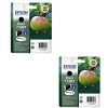 Original Epson T1291 Black Twin Pack Ink Cartridges