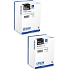 Original Epson T8661 XL Black Twin Pack High Capacity Ink Cartridges (C13T866140)