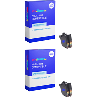 Premium Remanufactured Frama 1018968 Blue Twin Pack Franking Ink Cartridges (10408-801)