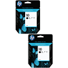 Original HP 10 Black Twin Pack High Capacity Ink Cartridges (C4844AE)