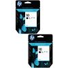 Original HP 10 Black Twin Pack High Capacity Ink Cartridges (C4844AE)