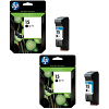 Original HP 15 Black Twin Pack High Capacity Ink Cartridges (C6615DE)