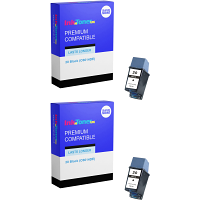 Premium Remanufactured HP 20 Black Twin Pack Ink Cartridges (C6614DE)