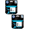 Original HP 21 Black Twin Pack Ink Cartridges (C9351AE)