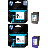 Original HP 27 / 28 Black & Colour Combo Pack Ink Cartridges (C8727AE & C8728AE)