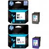 Original HP 27 / 28 Black & Colour Combo Pack Ink Cartridges (C8727AE & C8728AE)