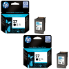 Original HP 27 Black Twin Pack Ink Cartridges (C8727AE)