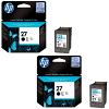 Original HP 27 Black Twin Pack Ink Cartridges (C8727AE)