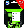 Original HP 301 Black (2 x) & Colour Tri-Pack Ink Cartridges (E5Y87EE)