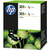 Original HP 301XL Colour Twin Pack High Capacity Ink Cartridges (D8J46AE)
