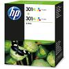 Original HP 301XL Colour Twin Pack High Capacity Ink Cartridges (D8J46AE)