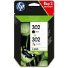 Original HP 302 Black & Colour Combo Pack Ink Cartridges (X4D37AE)