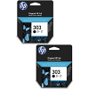Original HP 303 Black Twin Pack Ink Cartridges (T6N02AE)