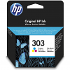Original HP 303 Colour Ink Cartridge (T6N01AE)