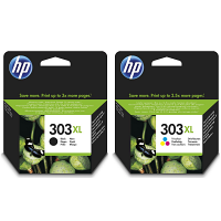 Original HP 303XL Black & Colour Combo Pack High Capacity Ink Cartridges (3YN10AE)