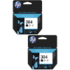 Original HP 304 Black Twin Pack Ink Cartridges (N9K06AE)