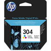 Original HP 304 Colour Ink Cartridge (N9K05AE)