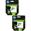 Original HP 304XL Black Twin Pack High Capacity Ink Cartridges (N9K08AE)