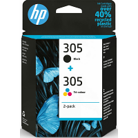 Original HP 305 Black & Colour Combo Pack Ink Cartridges (3YM61AE & 3YM60AE)