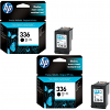 Original HP 336 Black Twin Pack Ink Cartridges (C9362EE)