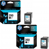 Original HP 350 Black Twin Pack Ink Cartridges (CB335EE)