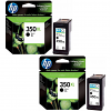 Original HP 350XL Black Twin Pack High Capacity Ink Cartridges (CB336EE)