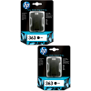 Original HP 363 Black Twin Pack Ink Cartridges (C8721EE)