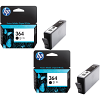 Original HP 364 Black Twin Pack Ink Cartridges (CB316EE)