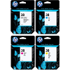 Original HP 38 CMYK Multipack Ink Cartridges (C9413A / C9415A / C9416A / C9417A)