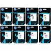 Original HP 38 Multipack Set Of 8 Ink Cartridges (C9413A/ C9412A/ C9415A/ C9416A/ C9417A/ C9418A/ C9419A/ C9414A)