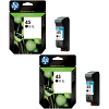 Original HP 45 Black Twin Pack High Capacity Ink Cartridges (51645AE)