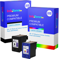 Premium Compatible HP 56 / 57 Black & Colour Combo Pack Ink Cartridges (SA342AE)