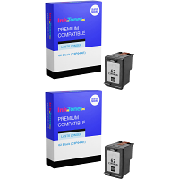 Premium Compatible HP 62 Black Twin Pack Ink Cartridges (C2P04AE)