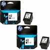 Original HP 62 Black Twin Pack Ink Cartridges (C2P04AE)