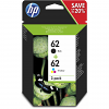 Original HP 62 Black & Colour Combo Pack Ink Cartridges (N9J71AE)
