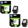 Original HP 62XL Black Twin Pack High Capacity Ink Cartridges (C2P05AE)