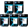 Original HP 72 PBK, C, M, Y, GY Multipack Ink Cartridges (C9397A/ C9398A/ C9399A/ C9400A/ C9401A)