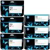 Original HP 727 C, M, Y, MBK, PBK, GY Multipack Extra High Capacity Ink Cartridges (F9J79A/ C1Q12A/ F9J76A/ F9J77A/ F9J78A/ F9J80A)