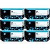 Original HP 772 Multipack Set Of 6 Ink Cartridges (CN633A/ CN635A/ CN636A/ CN629A/ CN630A/ CN634A)