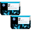 Original HP 80 Black Twin Pack High Capacity Ink Cartridges (C4871A)