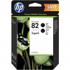 Original HP 82 Black Twin Pack High Capacity Ink Cartridges (P2V34A)