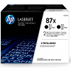 Original HP 87X Black Twin Pack High Capacity Toner Cartridges (CF287XD)