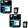 Original HP 901 Black Twin Pack Ink Cartridges (CC653A)