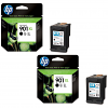 Original HP 901XL Black Twin Pack High Capacity Ink Cartridges (CC654A)