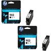 Original HP 903 Black Twin Pack Ink Cartridges (T6L99AE)