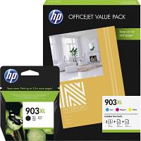 Original HP 903XL CMYK Multipack High Capacity Ink Cartridges & Paper (T6M15AE / 1CC20AE)