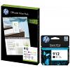 Original HP 912 CMYK Multipack Ink Cartridges & A4 Paper (3YL80AE & 6JR41AE)