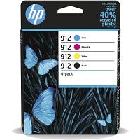 Original HP 912 CMYK Multipack Ink Cartridges (6ZC74AE)
