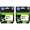 Original HP 912XL Black Twin Pack High Capacity Ink Cartridges (3YL84AE)